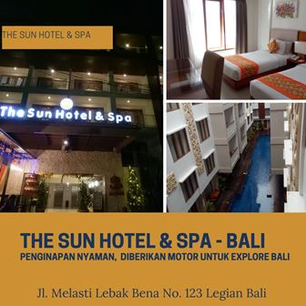 The Sun Hotel & Spa: Menginap Nyaman Diberikan Motor Explore Bali