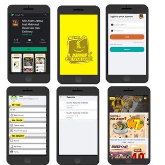 Aplikasi Mie Ayam Jamur Haji Mahmud Medan