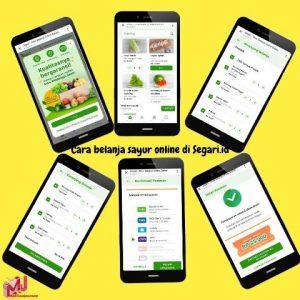 Cara belanja sayur online di Segari