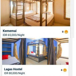 Type kamar nginep di hostels aja